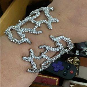 Kenneth lane coral statement bracelet